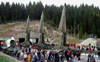 Nike Hercules missiles at Cold War memorial park near Folgaria, Italy