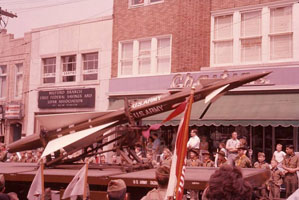 Nike Ajax missile on display in Milford, CT parade