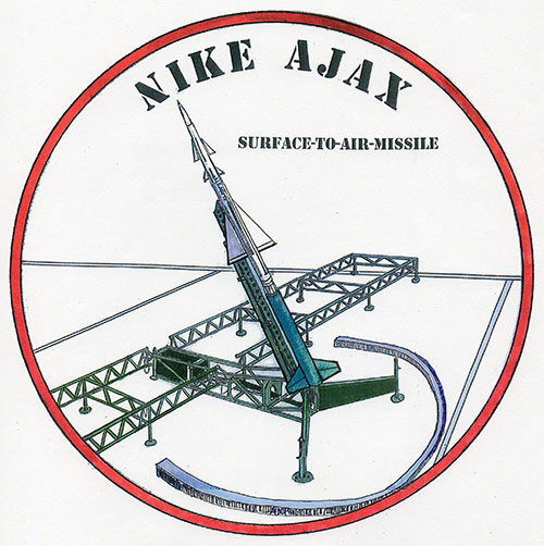 Decal: Nike Ajax surface to air missile.